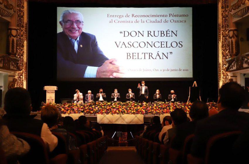 Rinden homenaje póstumo al #cronista de la ciudad, don Rubén Vasconcelos Beltrán