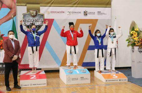 Llegó el oro para #Oaxaca en la modalidad de combate del taekwondo en Juegos Nacionales