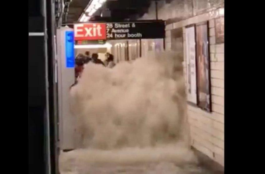Estado de emergencia en Nueva York debido a inundaciones.