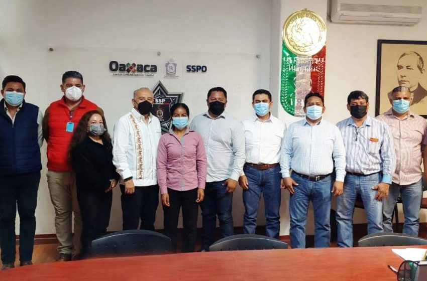Fortalece SSPO acciones de seguridad con autoridades municipales de Valles Centrales