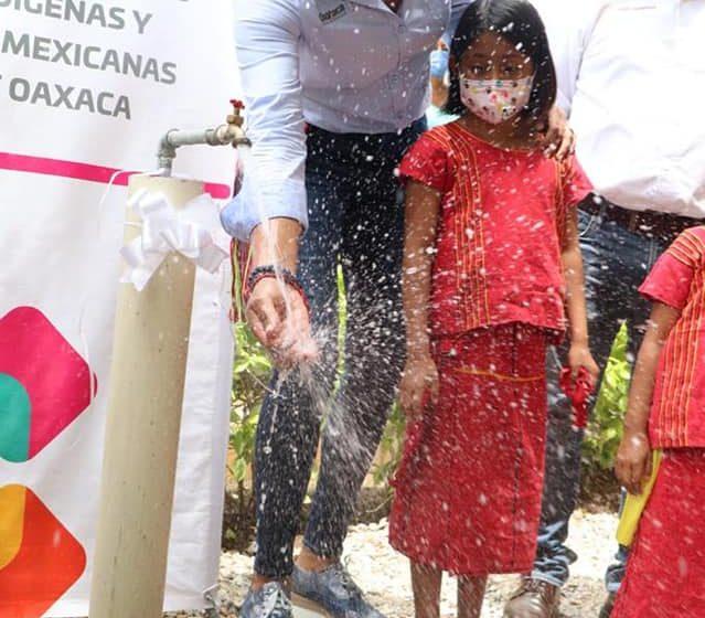 Inaugura Sepia red y ampliación del Sistema de Agua Potable en San Miguel Chimalapa #Oaxaca