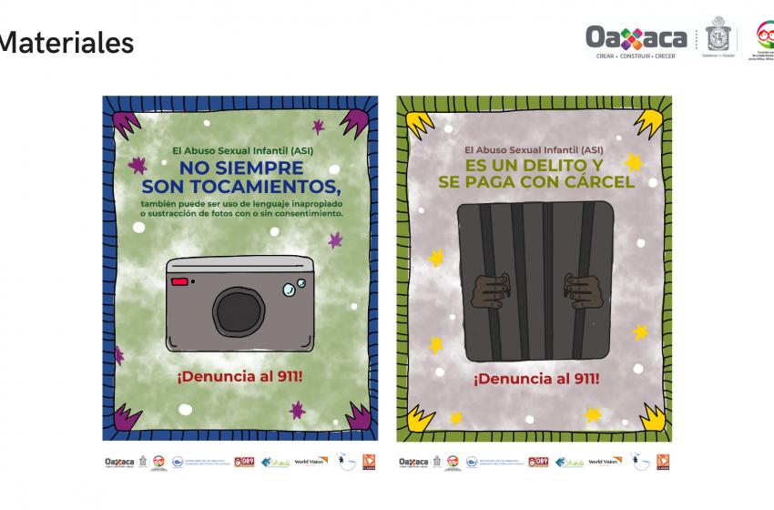 "Presentan campaña ""ASI NO #YoSíTeCreo contra el abuso sexual infantil"" en #Oaxaca"