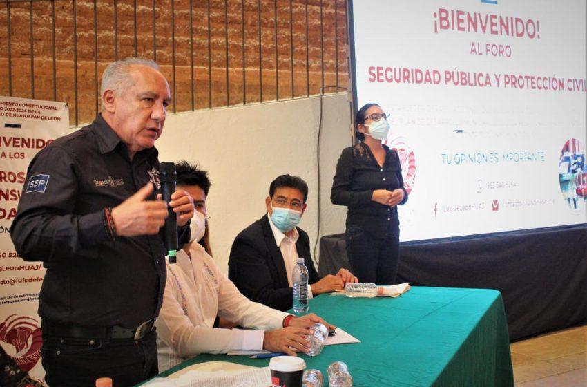 Participa titular de la SSPO en Foro de Seguridad y Protección Civil en Huajuapan de León