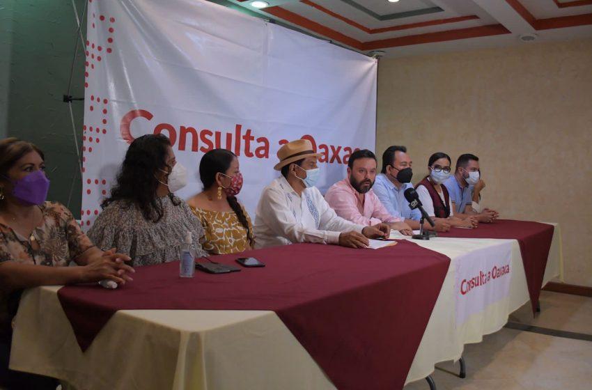 Legisladoras y legisladores de morena realizan Consulta a Oaxaca