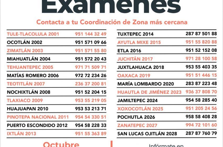 Concluye en octubre, tu primaria o secundaria con el IEEA Oaxaca